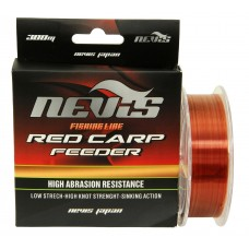 NEVIS MONOFILAMENT RED CARP FEEDER 300M